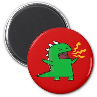 ¡RAWR Dino - personalizable! Imán Redondo 5 Cm