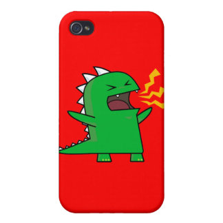 ¡RAWR Dino - personalizable! iPhone 4/4S Carcasas