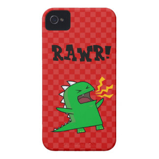 ¡RAWR Dino - personalizable! (pequeño) iPhone 4 Cobertura