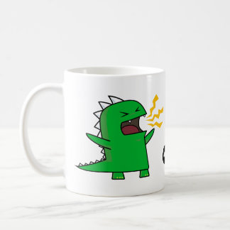 ¡RAWR Dino - personalizable! Taza Básica Blanca