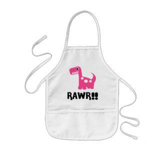 Rawr Dino Pink Kids' Apron