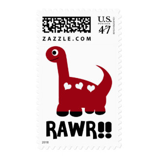 Rawr Dino Red Postage