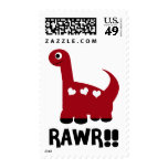 Rawr Dino Red Postage
