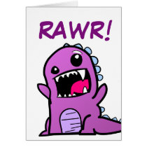 Rawr! Dinosaur Happy Birthday Card