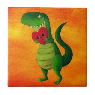 RAWR Dinosaur Love Ceramic Tiles