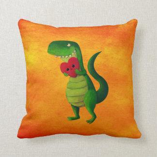 RAWR Dinosaur Love Throw Pillows