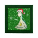 ¡RAWR! Dinosaurio del navidad Cajas De Recuerdo