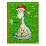 ¡RAWR! Dinosaurio del navidad Postales