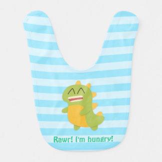 ¡Rawr! Dinosaurio lindo divertido para el bebé Baberos Para Bebé