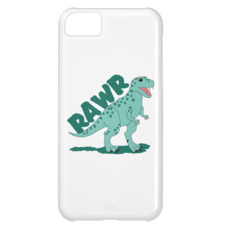RAWR Green Spotted T-Rex Dinosaur iPhone 5C Cases