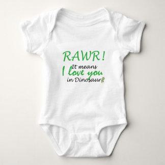 Rawr - I love you Baby Bodysuit