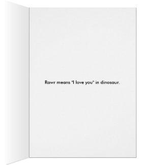 Rawr!  I love you. Card