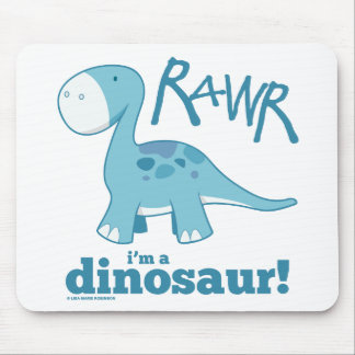 RAWR I'm A Dinosaur Diplodocus Mousepad