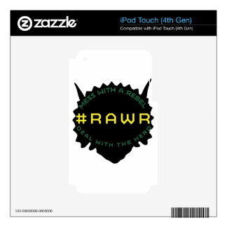 #RAWR iPod TOUCH 4G DECAL
