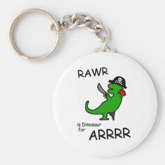 RAWR is Dinosaur for ARRR (Pirate Dinosaur) Key Chains