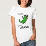 RAWR is Dinosaur for ARRR (Pirate Dinosaur) Tshirts