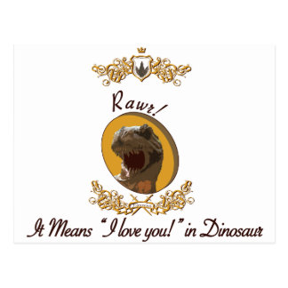 Rawr it means I love you in dinosaur Postcard