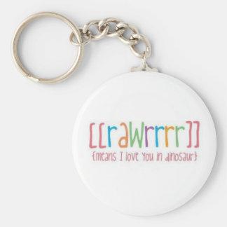 RAWR keychain