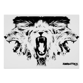 RAWR Lions Poster