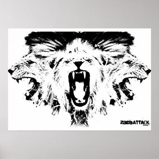 RAWR Lions Poster