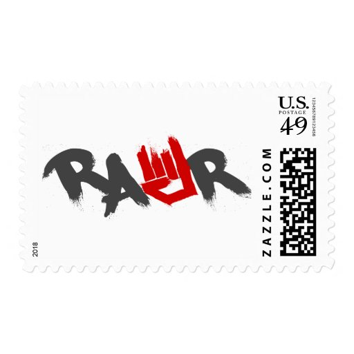 Rawr Logo - Emo, goth, alternative, rock, grunge Postage Stamps
