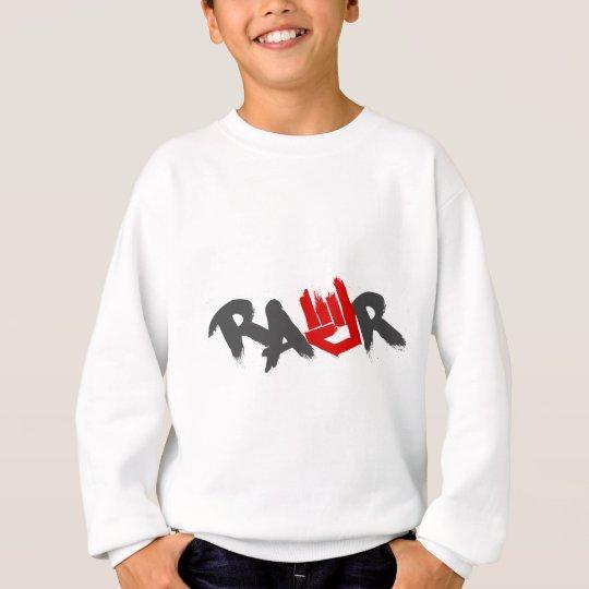 Rawr Logo - Emo, goth, alternative, rock, grunge Sweatshirt