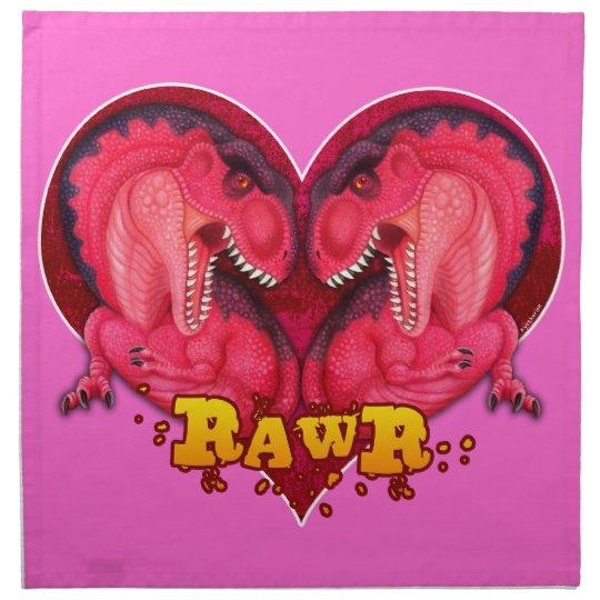 Rawr love a saurus dinosaur cloth napkin