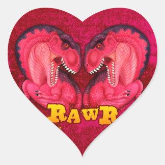 Rawr Love-a-saurus Heart Sticker