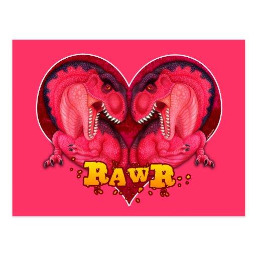 Rawr Love-a-saurus Postcard