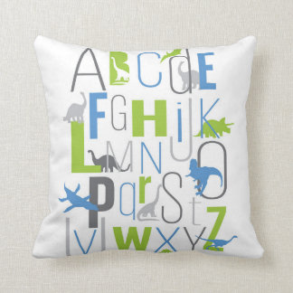 Rawr Means I love You In Dinosaur ABC Pillow