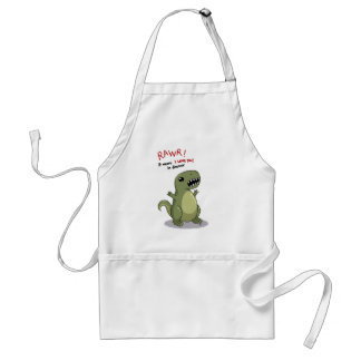 Rawr Means I love you in Dinosaur Adult Apron