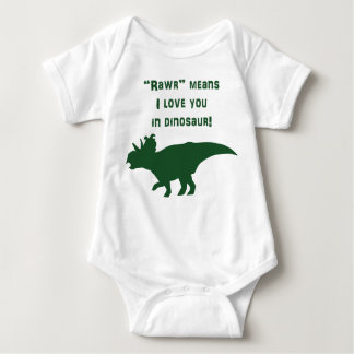 """Rawr"" Means I Love You In Dinosaur Baby Bodysuit"
