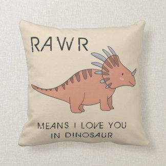 Rawr Means I Love You In Dinosaur Boys Room Pillow