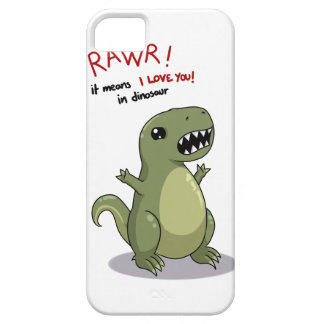 Rawr means I love you in dinosaur iPhone 5 Cover
