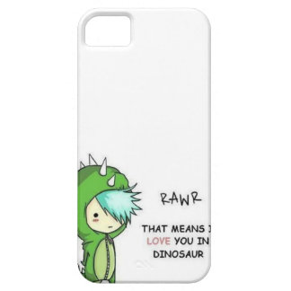 RAWR means i love you in dinosaur iPhone 5 Case