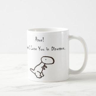 RAWR! Means I Love You In Dinosaur Coffee Mug
