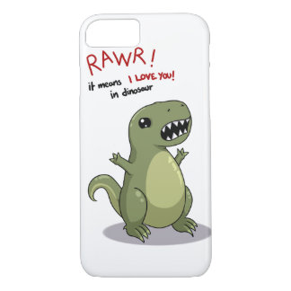 Rawr means I love you in dinosaur iPhone 8/7 Case