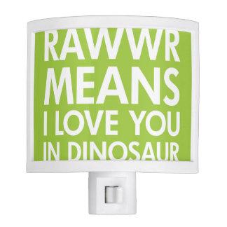 Rawr Means I love You In Dinosaur Night Light