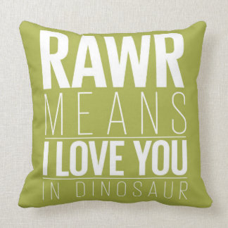 Rawr Means I love You In Dinosaur Pillow for Kids