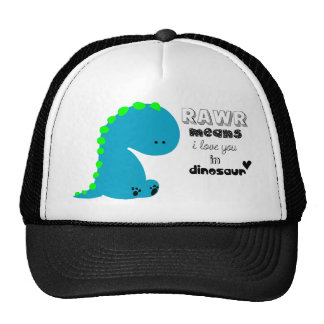 Rawr Means I love you in DINOSAUR shirt Trucker Hat
