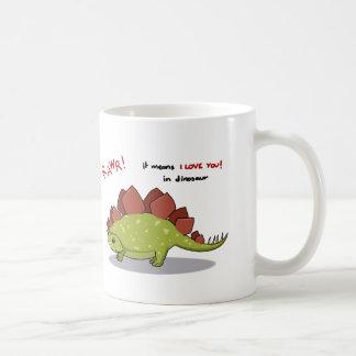 Rawr Means I love you in dinosaur Stegosaurus Coffee Mug