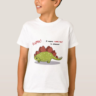 Rawr Means I love you in dinosaur Stegosaurus T-Shirt
