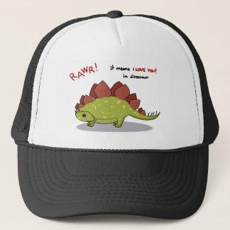 Rawr Means I love you in dinosaur Stegosaurus Trucker Hat
