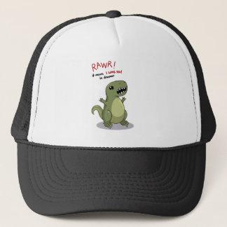 Rawr Means I love you in Dinosaur Trucker Hat