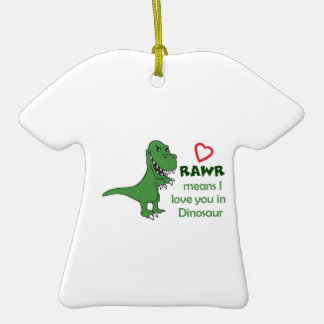 RAWR MEANS I LOVE YOU CHRISTMAS TREE ORNAMENTS