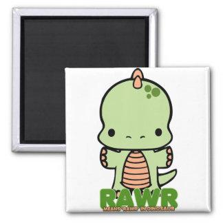 Rawr Means Rawr green Refrigerator Magnets