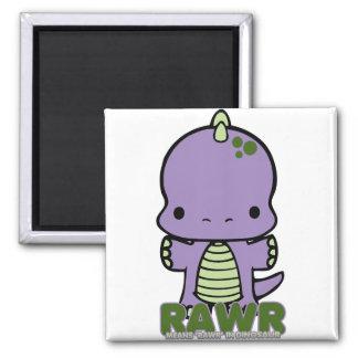 Rawr Means Rawr purple Magnet