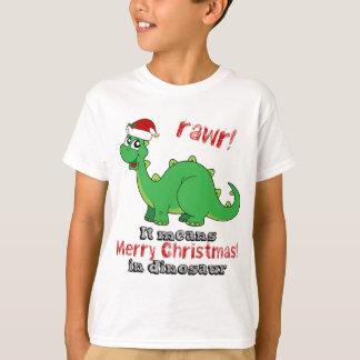 Rawr Merry Christmas in Dinosaur T-Shirt