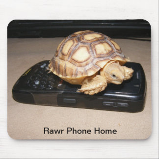 Rawr Phone Home Mouse Pad