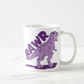 RAWR Purple Spotted T-Rex Dinosaur Coffee Mug